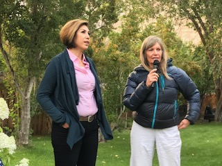 Sandra Willingham and Paulette Jordan